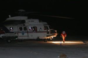 Airlift og Sysselmannens helikopeter