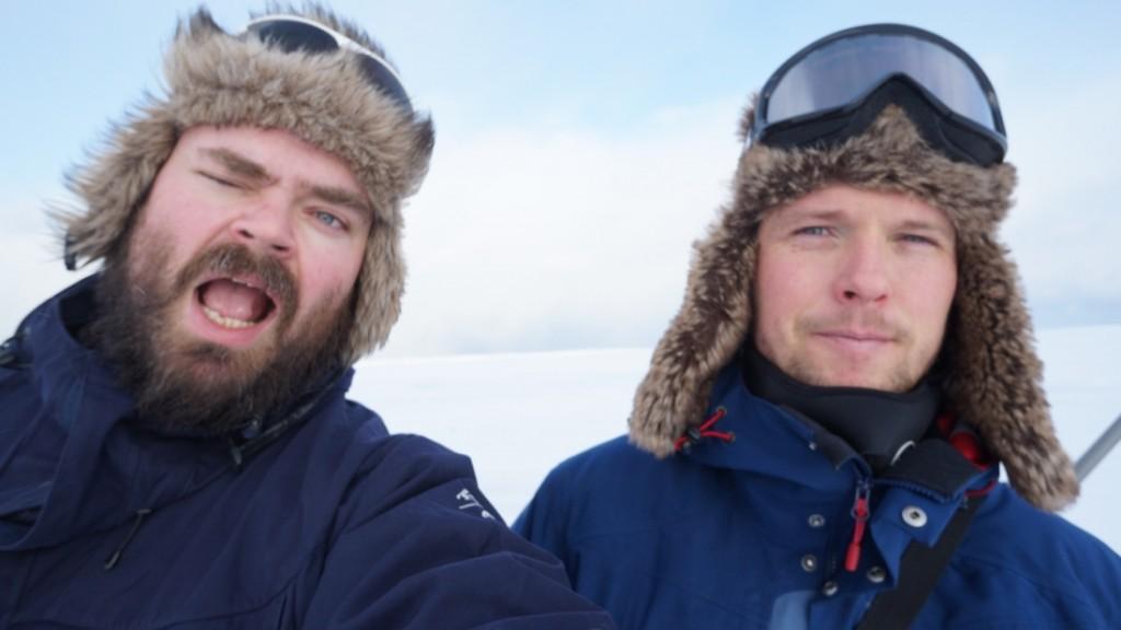 Undertegnede og Mikael (aka Gærningen) på vei til Mjogsjø!