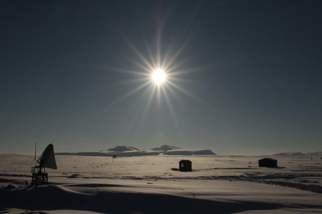 På torsdag var det sol fra tilnærma skyfri himmel. Det var ganske fint.