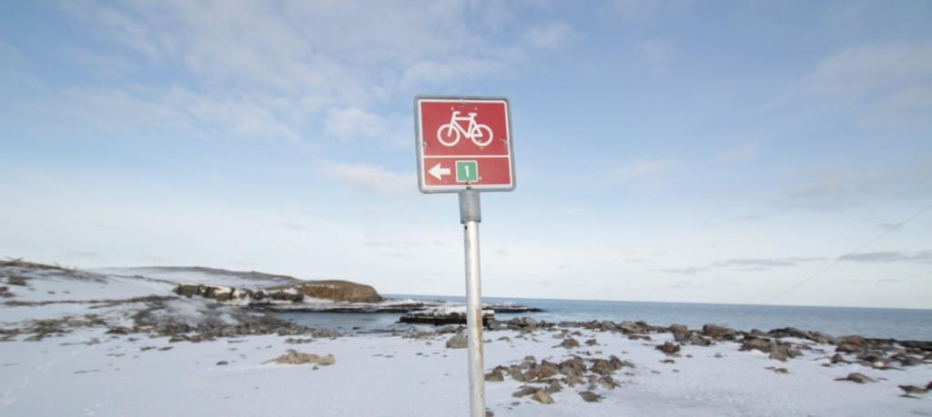 Enkelte jeg kjenner i Trondheim, ville nok testa sykkelstien forlengst. Itte je.