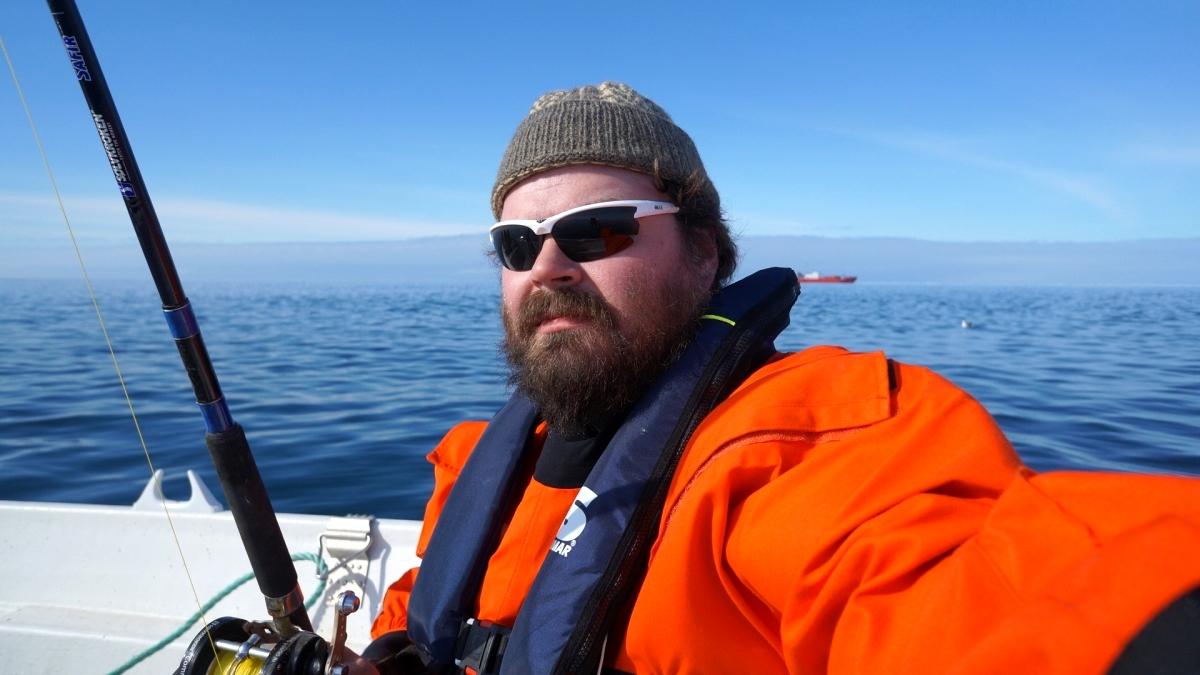 På Barentsfjorden.